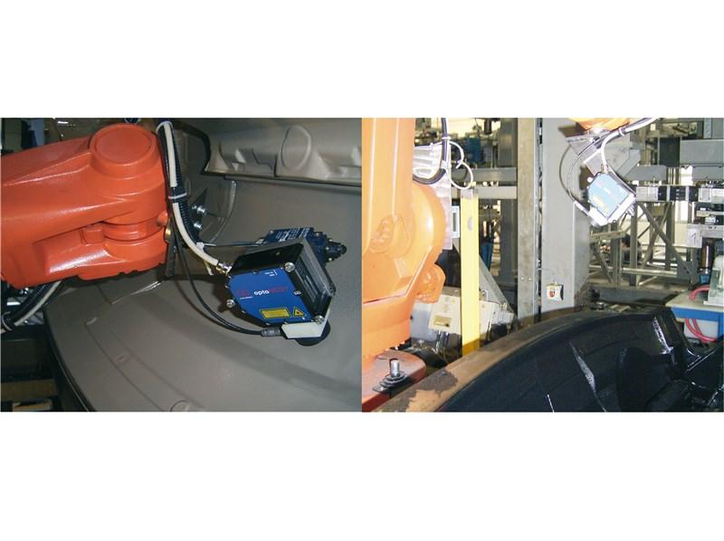 电涡流与激光传感器共同进行喷涂表面的厚度测量